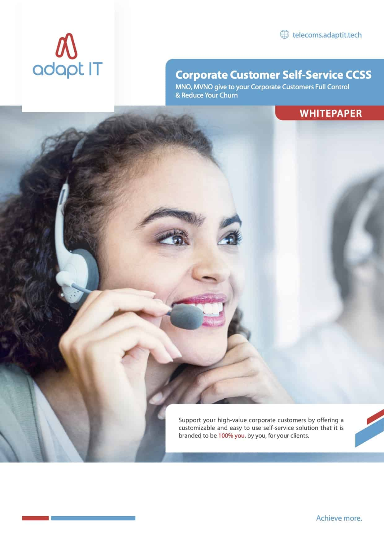 Corporate Customer Self Service CCSS White Paper Myriad font approved