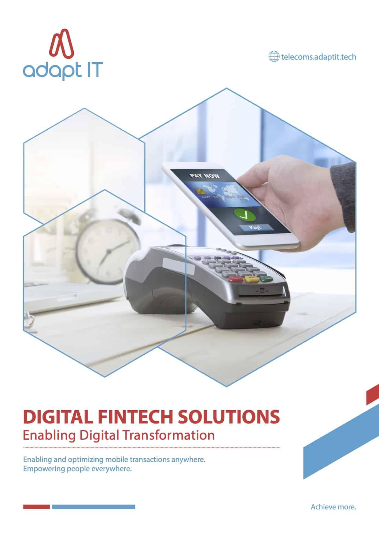Fintech digital solutions Myriad font2
